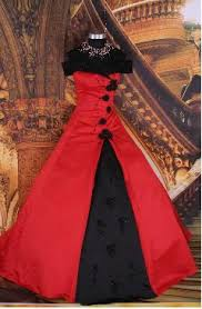 wedding dresses in red and black