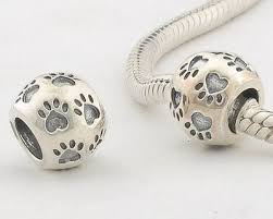 sterling pandora style bracelet images 100 925 sterling silver dog footprint beads jewelry compatible jpg