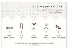 wedding invitations timeline wedding day timeline invitation card by onetenstationery on etsy