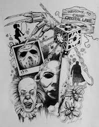 classic horror tattoo sketch by lollypop3000 on deviantart