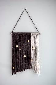 yarn wall hanging boho home decor tapestry yarn macrame