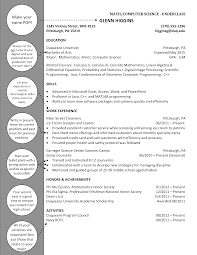 Computer Programs List For Resume Mathematics Computer Science Underclass Duquesne Resume