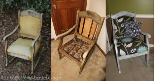 A Rocking Chair The Rescued Rocking Chair How To Reupholster A Chair Tutorial