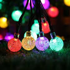 solar powered fairy lights for trees solar powered christmas tree decor waterproof 6m 30 leds crystal