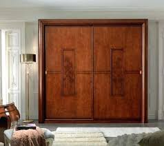 Sliding Wooden Closet Doors Bedroom Wood Doors Tarowing Club