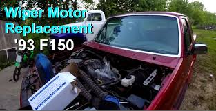 wiper motor replacement 1993 ford f150 pickup youtube
