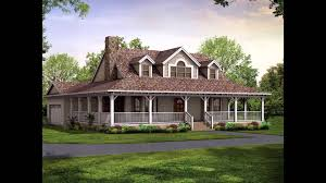 home plans wrap around porch house youtube design kevrandoz