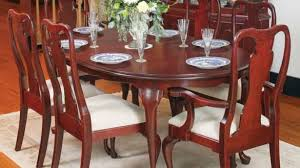 cherry wood dining room set cherry wood dining room set queen anne table oval and 21