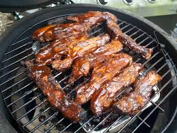 my big green egg country style pork ribs on the big green egg