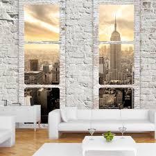 steinwand fã r wohnzimmer die besten 25 fototapete fenster ideen auf