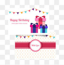 abstract gift birthday card vector material birthday card happy
