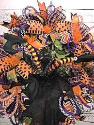 halloween wreath halloween witch wreath witch legs wreath
