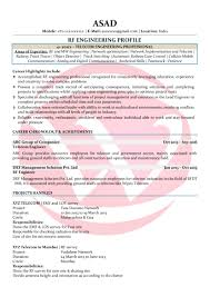 See Resume Rf Engineer Sample Resumes Download Resume Format Templates
