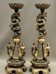 foo lion statue 22 tibet buddhism temple bronze foo lion statue candle