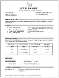 Fresher Resume Sample by Fresher Resume Format For B Tech Ece Resume Format