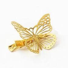 butterfly hair clip hot shiny golden butterfly hair clip max 55 shop quality