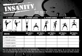 image gallery insanity fit test workout