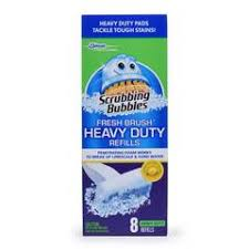 Heavy Duty Bathroom Cleaner Scrubbing Bubbles Fresh Brush Toilet Cleaning Pad Refills 8 Ct
