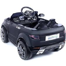 matte black range rover range rover evoque ride on car