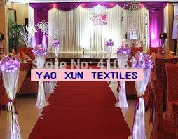 Curtains For Wedding Backdrop Buy 3m 6m Wholesale Wedding Backdrop Stage Curtains Wedding