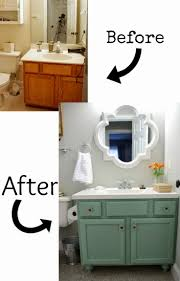 how to redo bathroom cabinets for cheap bathroom cabinet redo painted oak cabinet painting bathroom
