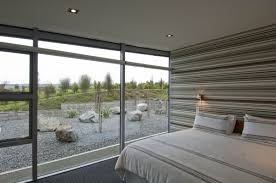 minimalilst bedrooms look using small rounded ceiling fittings and