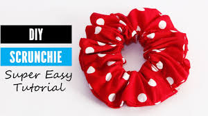 diy hair accessories how to make a scrunchie diy hair