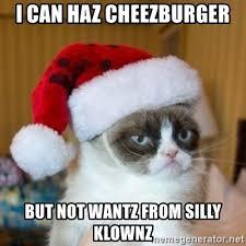 Cheezburger Meme Creator - i can haz cheezburger but not wantz from silly klownz grumpy cat