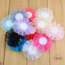 tulle hair bows diy lace flowers handmade tulle flower with bow for bridal