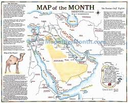 Middle East Country Map by Persian Gulf Middle East Map Maps For The Classroom
