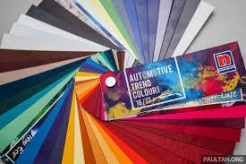 nippon paint automotive trend colours 2016 2017 palette for asia