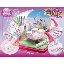 decorate your own tea cup disney princess tea party set walmart