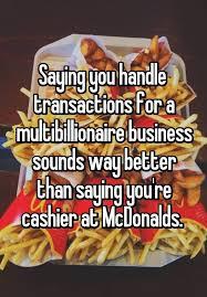 Mcdonalds Cashier Job Description For Resume by 56 Best Cashier Problems Images On Pinterest Retail Problems