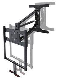 down out tv wall mount tranquilmount pull down flat screen tv