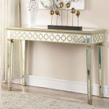 wood and mirrored console table and mirrored console table alluring narrow put small room the new