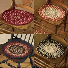 Chair Pads Cotton Braided Chairpads By Park Designs Primitive Home Decors