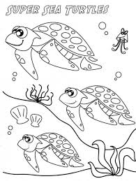 super sea turtle coloring page animal coloring pages of