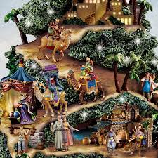 amazon com thomas kinkade illuminated nativity tabletop tree