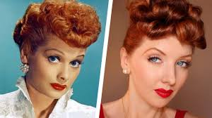 transforming into lucille ball makeup u0026 hair tutorial youtube