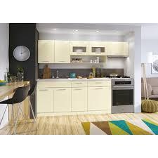 cuisine complete cuisine complète moderna vanille laqué 2m40 6 meubles