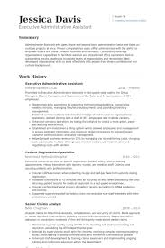 Operations Assistant Resume Executive Administrative Assistant Resume Samples Visualcv