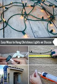 Christmas Lights On House by How To Hang Christmas Lights On Stucco Hanging Christmas Lights