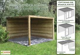 abri cuisine ext駻ieure abri de jardin bois exterior 400x400x230 gardival