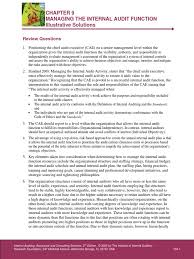 chapter 9 illustrative solutions pdf internal audit audit