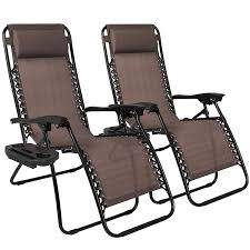 Patio Chairs Best Choice Products 2 Pack Zero Gravity Chairs