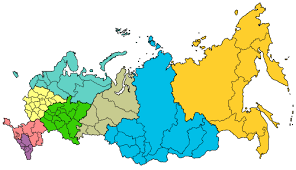 russia map after division federal districts of russia