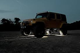 jeep wrangler rock lights universal led rock light kit rough country suspension systems
