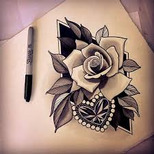 34 best heart rose tattoo images on pinterest heart tattoos