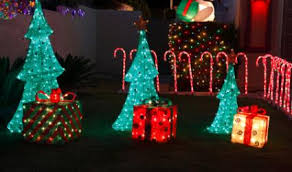 Outdoor Lighted Trees Outside Lighted Decorations Diy Trees Plastic