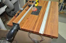 router table dust collection lift top router table with dust collection in the fence by ron